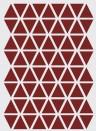 Wallsticker Mini Triangle von ferm LIVING - rot