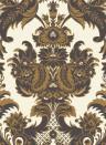 Wyndham - Designtapete von Cole & Son - Black & Gold