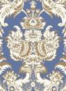 Wyndham - Designtapete von Cole & Son - Blue & Gold