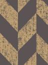 Tapete Triangle von Arte - 99065 Schwarz/ Gold