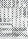 Geometrische Tapete Oblique von Arte - Weiß/ Schwarz
