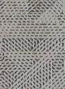 Geometrische Tapete Oblique von Arte - Braun/ Schwarz