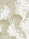 Quallentapete Meduse von Hookedonwalls - Weiß/ Gold