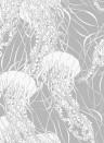 Quallentapete Meduse von Hookedonwalls - Silber/ Weiß