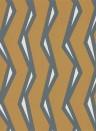 Streifen Tapete Rayo von Scion - Paprika/ Charcoal