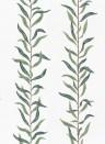 Florale Streifentapete Pil von Sandberg - Lush Green/ White