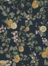 Florale Tapete Kvitten von Sandberg - Dark Blue
