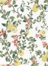 Florale Tapete Kvitten von Sandberg - White