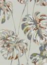 Florale Tapete Kelapa von Harlequin - Charcoal/ Blush