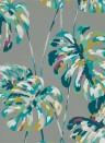 Florale Tapete Kelapa von Harlequin - Lagoon/ Cerise