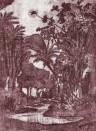 Tropentapete Myth von Tenue de Ville - Garnet