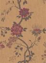 Tapete Camellia von Cole and Son - Crimson/ Gold