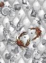 Meeres-Tapete Coquillage & Crustacés - Blanc
