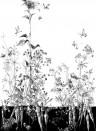 Edmond Petit Tapete Tournesol gauche - Blanc et Noir