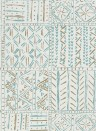 Tapete Cloisters von Nina Campbell - Aqua/ Taupe