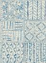 Tapete Cloisters von Nina Campbell - Indigo/ Blue