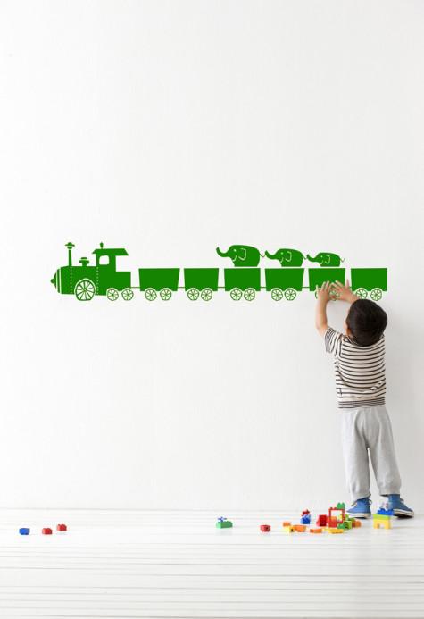 Wandsticker tiny train von ferm Living - green