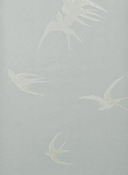 Tapete Swallows von Sanderson - Kieselgrau
