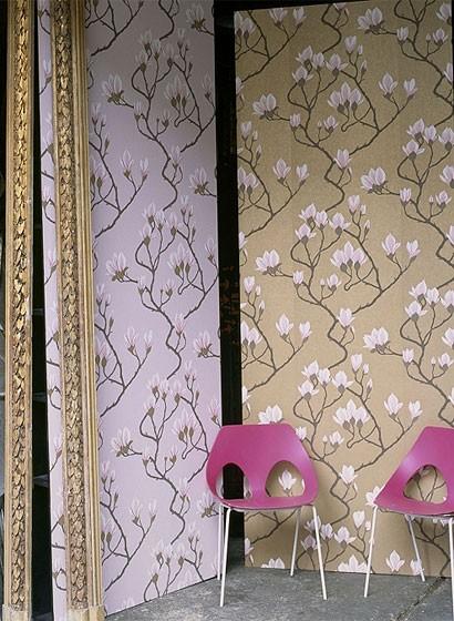 Florale Tapete Magnolia - Designtapete von Cole and Son