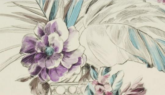 Tapete Zephirine - Florale Mustertapete von Designers Guild