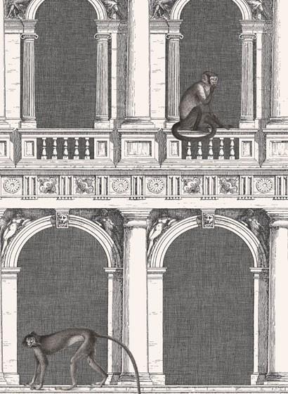 Tapete Procuratie e Scimmie von Cole & Son - Black and White