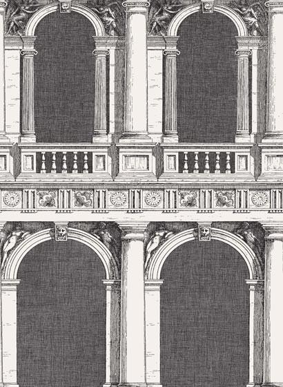 Fornasetti Tapete Procuratie v. Cole & Son - Black and White