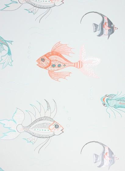 Tapete Aquarium von Osborne & Little - Pale Blue