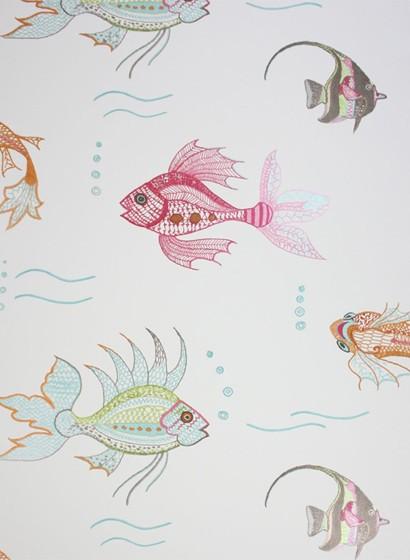 Tapete Aquarium von Osborne & Little - Offwhite