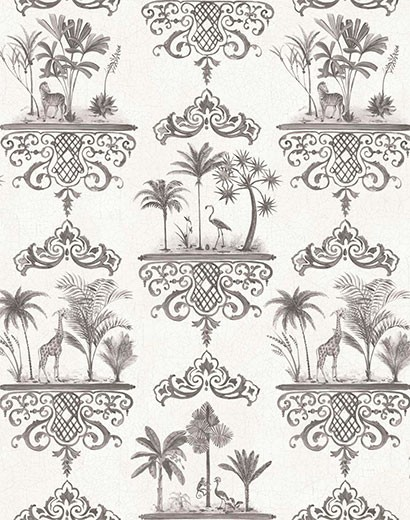 Tapete Rousseau von Cole & Son - Charcoal