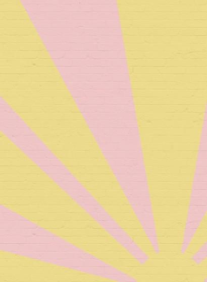 Wandbild Epic Sunrise - Gelb/ Rosa