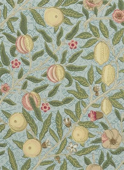 Tapete Fruit von Morris & Co. - Slate/ Thyme