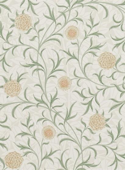 Tapete Scroll von Morris & Co. - Thyme/ Pear