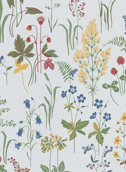 Tapete Flora von Sandberg - Weiß
