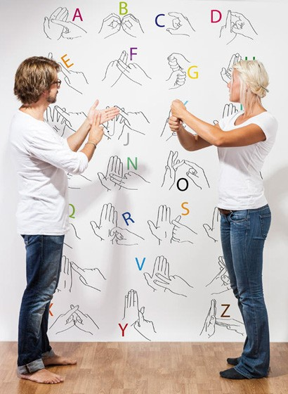 Wandbild Silent Language von MR PERSWALL