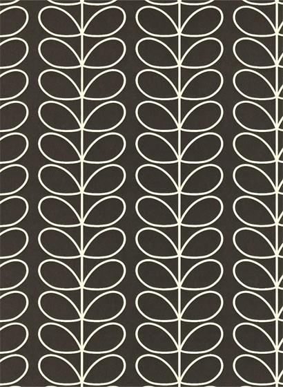 Retrotapete Linear Stem von Harlequin - Schwarz