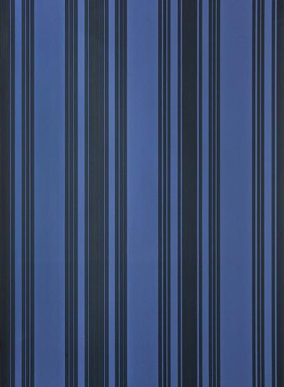 Tapete Tented Stripe von Farrow & Ball - Pitch Blue/ Off-Bla