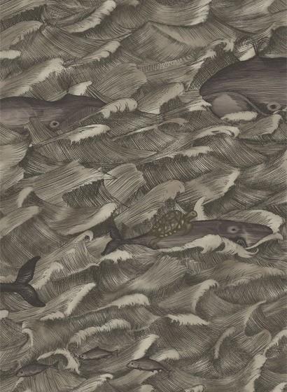 Tapete Melville von Cole & Son - Metallic Charcoal