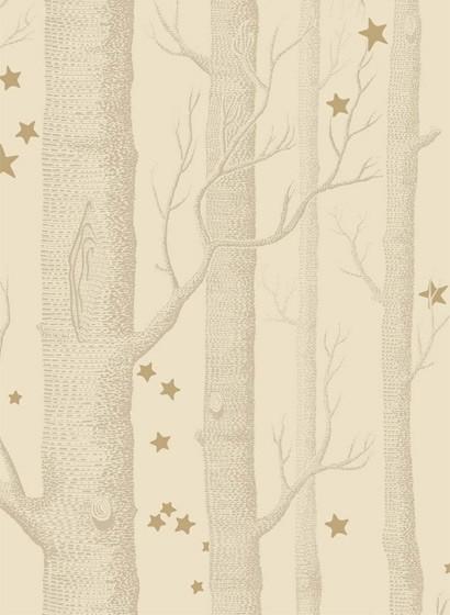 Tapete Woods & Stars von Cole & Son - Buff & Gold