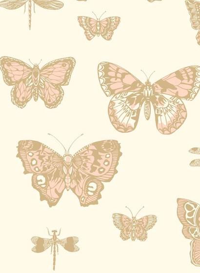 Tapete Butterflies & Dragonflies von Cole & Son - Pink/ Ivor