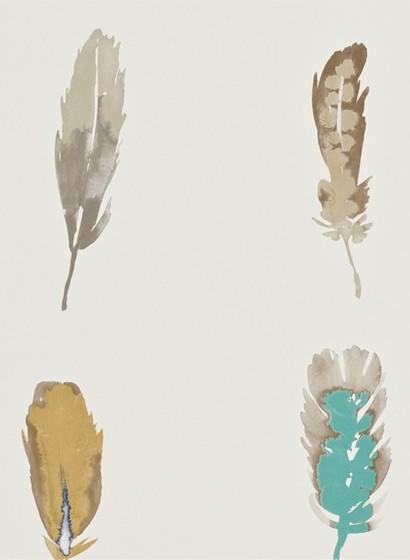 Tapete Limosa von Harlequin - Indigo/ Mustard/ Stone