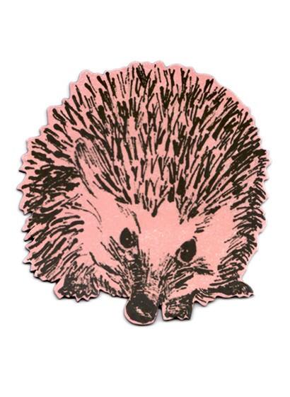 Magnet Hedgehog Round von Sian Zeng - Pink