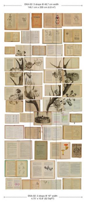 Tapete EKA-02 Bibliotheca von Ekaterina Panikanova