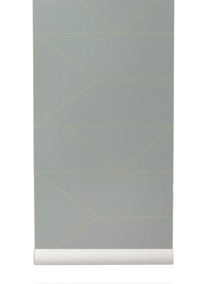 Tapete Lines von Ferm Living - Grey