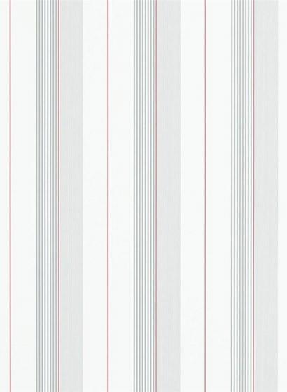 Tapete Aiden Stripe von Ralph Lauren - Granite/ Red