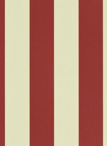 Ralph Lauren Tapete Spalding Stripe - Red/ Sand