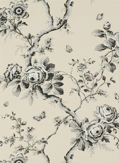 Tapete Ashfield Floral von Ralph Lauren - Etched Black