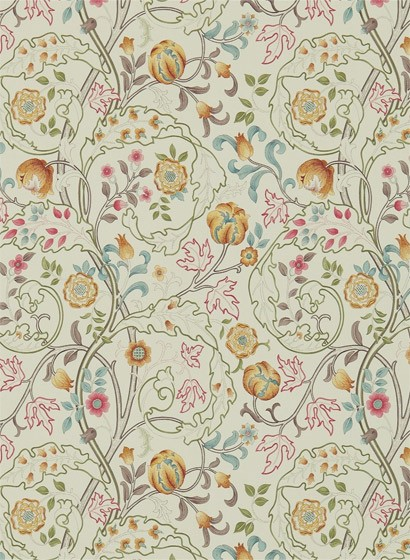 Morris & Co. Tapete Mary Isobel - Russet/ Taupe