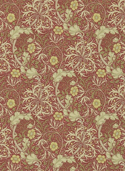 Morris & Co. Tapete Seaweed - Red/ Gold