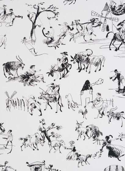 Kindertapete Toile de Joie von Pierre Frey - Encre