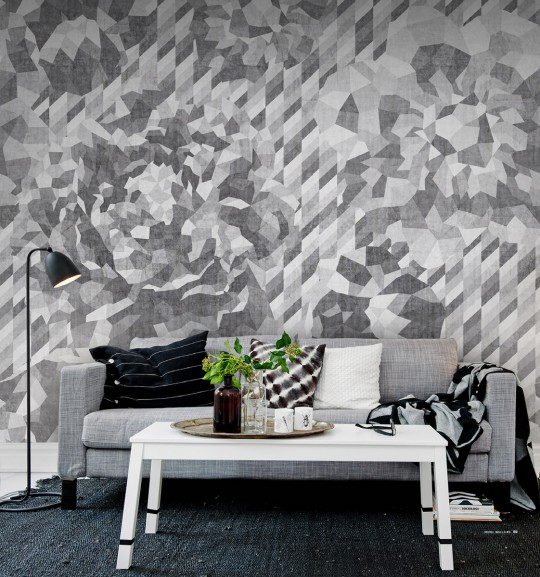 Wandbild Concrete Roses von Rebel Walls